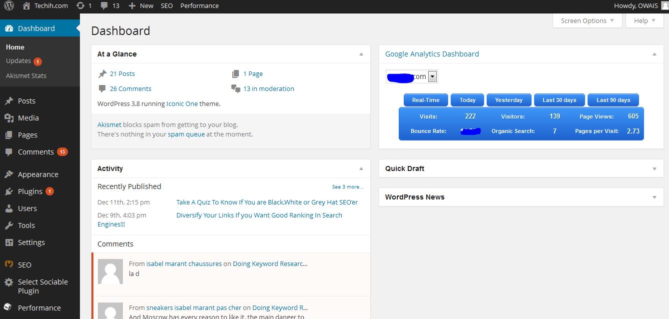 New Wordpress 3.8!!!